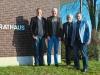 MdL Norwich Rüsse, Friedrich Paulsen und Helmut Fähr zum Gedankenaustausch beim Bürgermeister